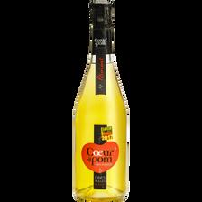 Pétillant de fruits pomme COEUR DE POM', bouteille de 75cl