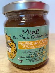 Miel issu de miellat de chêne et fleurs sauvages, Miels et Essaims du pays Guérandais, 250g