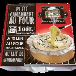 Petit camembert au four au lait pasteurisé 23% de MG GRAINDORGE & FILS, 120g