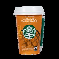 Boisson lacté café arabica caramel macchiato STARBUCKS, cup de 220ml