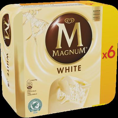 MAGNUM chocolat blanc, x6 soit 474g