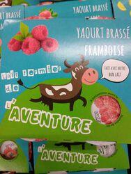 *YAOURT BRASSE FRAMBOISE 4X125G OMBREE D'ANJOU