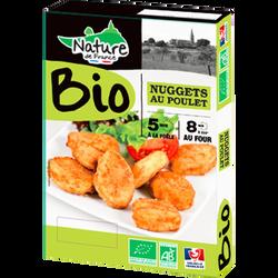 Nugget's de poulet, BIO, NATURE DE FRANCE, barquette, 200g