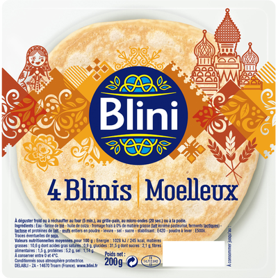 Moëlleux BLINIS, paquet de 200g