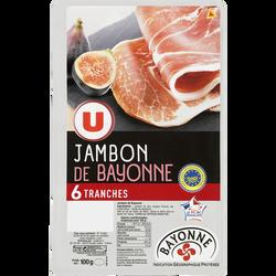 Jambon de Bayonne Indication Géographique Protégée U, 6 tranches, 100g
