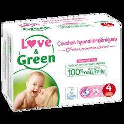 Couches sensitives et écologiques taille 4 LOVE&GREEN, x46