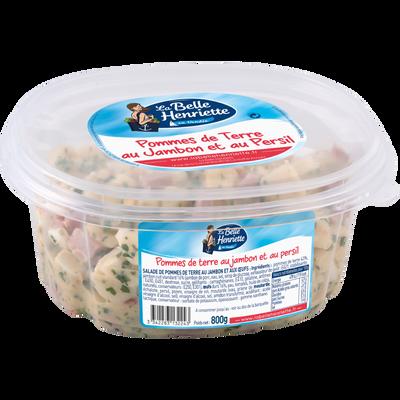 Salade de pommes de terre au jambon, aux oeufs et au persil, LA BELLEHENRIETTE, 800g