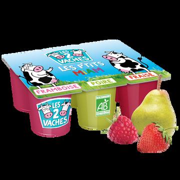 Les 2 vaches Petits Suisses Aux Fruits Bio Les 2 Vaches, 6x50g