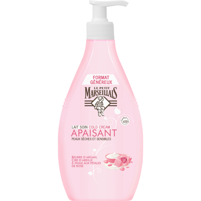 Lait Cold cream & rose LE PETIT MARSEILLAIS, 400ml