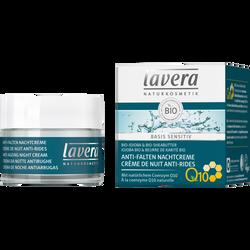 Crème de nuit anti rides au jojoba et au beurre de karité à la coenzyme Q10 bio LAVERA, pot de 50ml