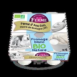 Fromage blanc nature, LA FERME D'ANA SOIZ, 4x100g