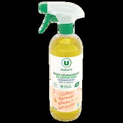 Spray dégraissant au savon noir U NATURE 750ml