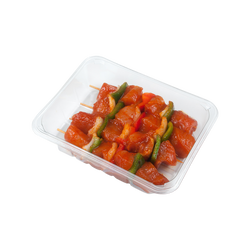 Brochette cube filet poulet blanc paprika/oignon/poivron, 625g