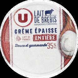 Crème fraîche épaisse de brebis U, 35% de MG, 20cl