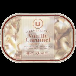 Glace vanille-caramel au beurre salé U, 480g