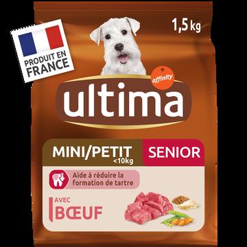 Ultima Croquettes Pour Chien Senior Spécial Mini Au Poulet Ultima, 1,5 Kg