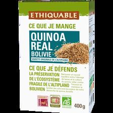 Quinoa real Bolivie Bio ETHIQUABLE, 400g