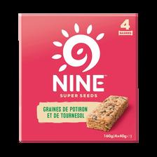 9 Barre graines potiron et tournesol NUTRISENS SPORT, x4, 120g