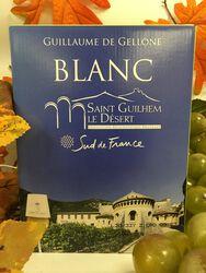 IGP St Guilhem le Désert - Cave de St Mathieu de Tréviers - Guillaume de Gellone - Blanc 5L
