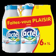 Lactel Lait Uht 1/2 Écrémé , 6 Bouteilles De 1l