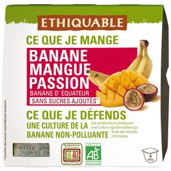 Compote banane mangue passion BIO ETHIQUABLE