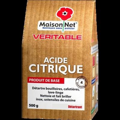 Nettoyant en poudre acide citrique MAISON NET, paquet de 500g