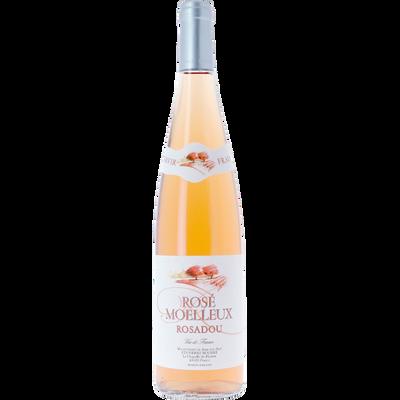 Vin rosé moelleux, 11°, bouteille de 75cl