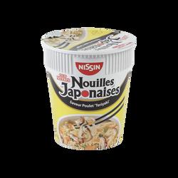 """Nouilles Japonaises saveur poulet """"Teriyaki"""" NISSIN, cup de 67g"""