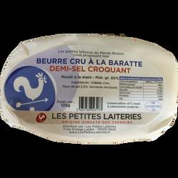 Beurre au lait cru 1/2 SEL croquant, 80% MG, 125G, TRADITIONS ET TERROIRS