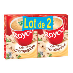 Crème de champignons ROYCO, étui de 2x4 sachets 160cl