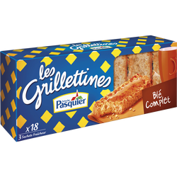 Grillettines au blé complet PASQUIER, paquet de 242g