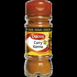 Curry korma médium DUCROS, flacon duc 42g