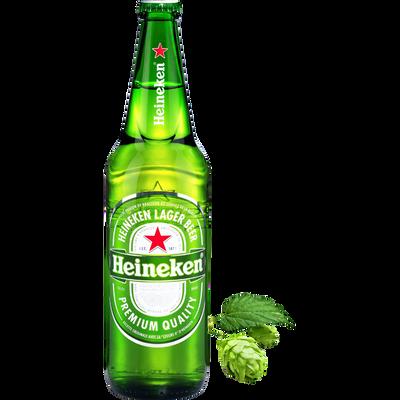 Bière blonde HEINEKEN, 5°, bouteille de verre 65cl