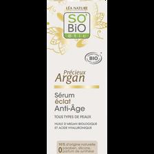 Sérum éclat anti âge précieux à l'huile d'argan Bio LEA NATURE, flacon de 30ml