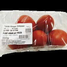 Tomate allongée, segment Les allongées, BIO, catégorie 2, Espagne, barquette, 500g