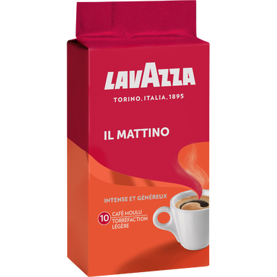 Café moulu torréfié à l'italienne il mattino LAVAZZA, 250g