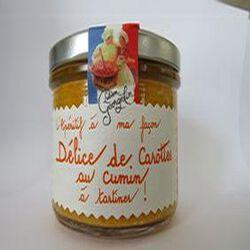 Délice de Carottes au cumin à tartiner, l'apéritif à ma façon, 100gr, bocal, Lucien Georgelin