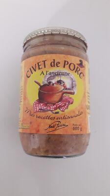 CIVET de PORC, Noël PUZZI, 600GR