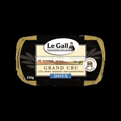 Beurre doux de baratte cru LE GALL, 82% de MG, plaquette de 250g