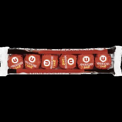 Mini rochers praliné et chocolat au lait U, x6 soit 84g
