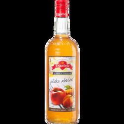 Sirop artisanal Pêche-Abricot de la Drôme EYGUEBELLE, bouteille en verre de 1l
