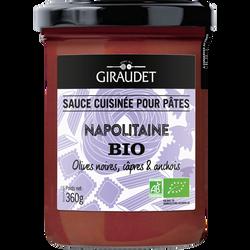 Sauce napolitaine bio GIRAUDET, pot de 360g