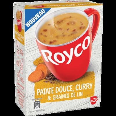 Soupe instantanée patate douce curry et graines lin ROYCO, 3x21, 2g