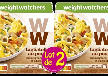 WeightWatchers Tagliatelles Au Poulet, Champignons, Crème Et Ciboulette Weight Watchers, 2x300g