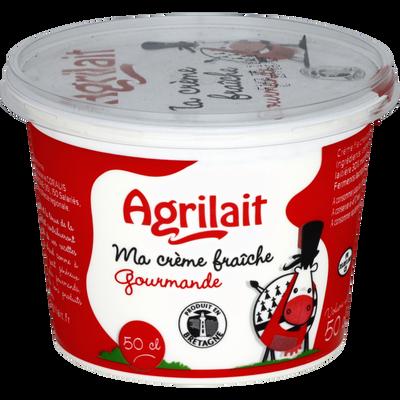 Crème fraîche épaisse gourmande AGRILAIT, 30% de MG, pot de 50cl