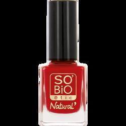 Vernis à ongles, soin et couleur, à l'huile de ricin biologique 16 rouge grenade - Sans étui