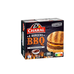 Burger barbecue CHARAL, 4x110g