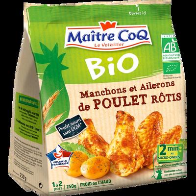 Manchon et aileron de poulet, BIO, MAITRE COQ, sachet, 250g