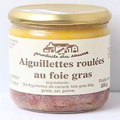 Aiguillettes roulées au foie gras, Produits du causse, 300g