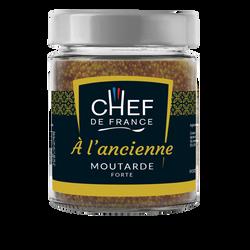 Moutarde forte à l'ancienne CHEF DE FRANCE, pot de 190g